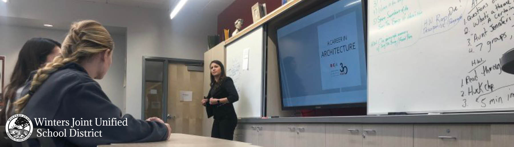 Adriana Mouser Speaks at Winters High School Career Faire
