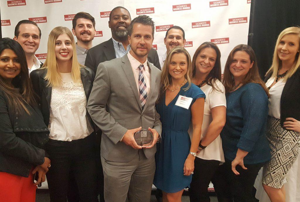 "Sacramento Business Journal ""Best Place To Work"" Award"