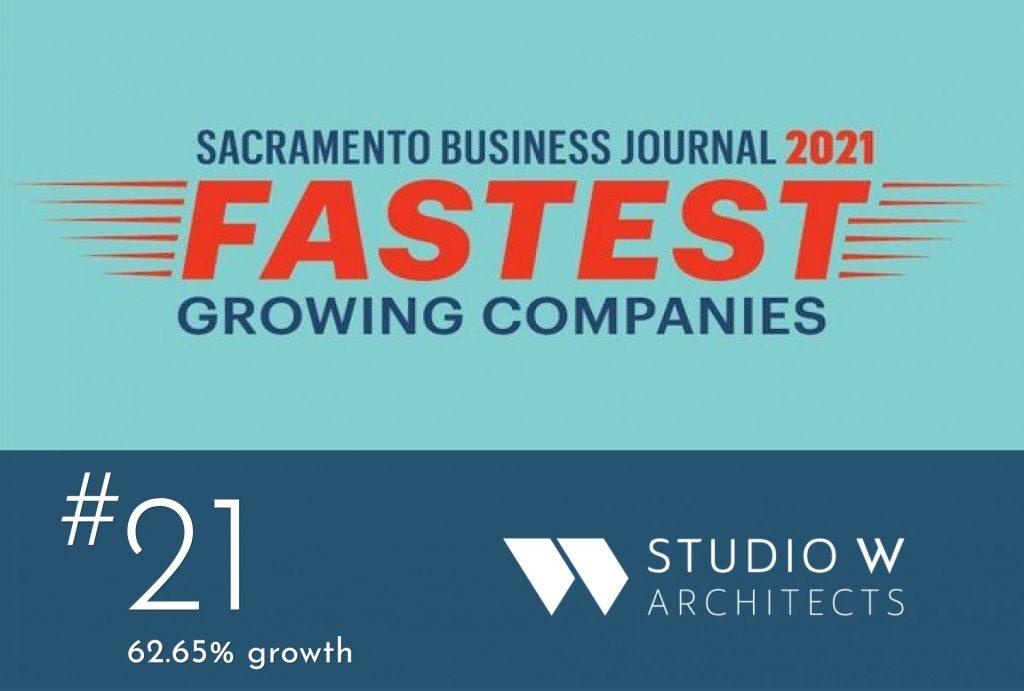 "Sacramento Business Journal ""Fastest Growing Companies"" Award"